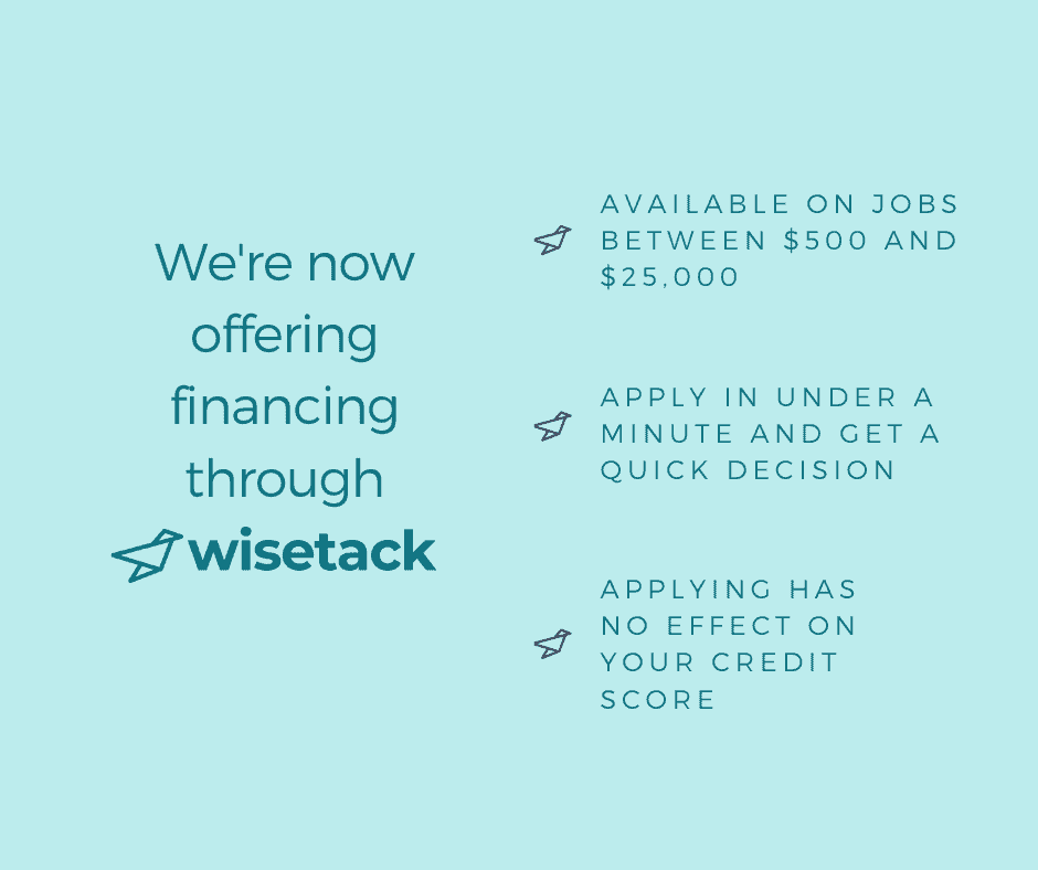 we're now offering financing with details